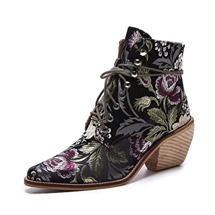 d197dd952fd30 Amazon.com: Kyle Walsh Pa Women Luxury Silk Boots Martin Ankle ...
