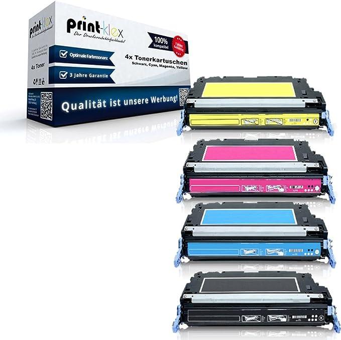 4x Print Klex Premium Xxl Toner Kompatibel Für Hp Color Laserjet 4700 Colorlaserjet 4700dn 4700dtn 4700n 4700phplus Hp643a Hp 643a Sparset Alle 4 Farben Premium Line Bürobedarf Schreibwaren