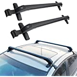 """Hediy 43"""" Inch Aluminum Car Top Luggage Roof Rack Cross Bar Carrier Window Frame Type Mount Onto the Rooftop of Your Car 2 Year Warranty"""