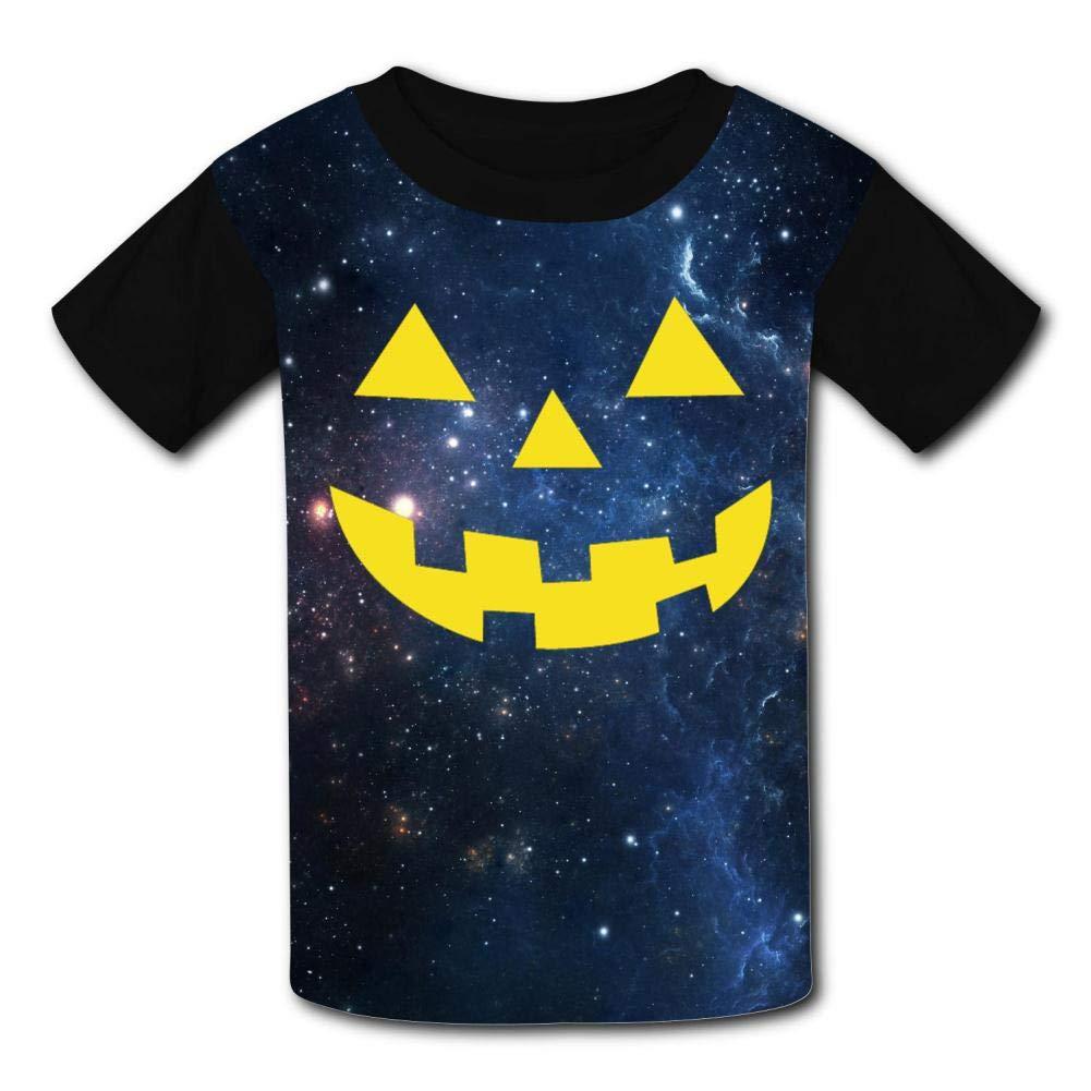 Kids//Youth Smile Jack-O-Lantern Comfortable T-Shirts Short Sleeve Children Tees Funny Creative
