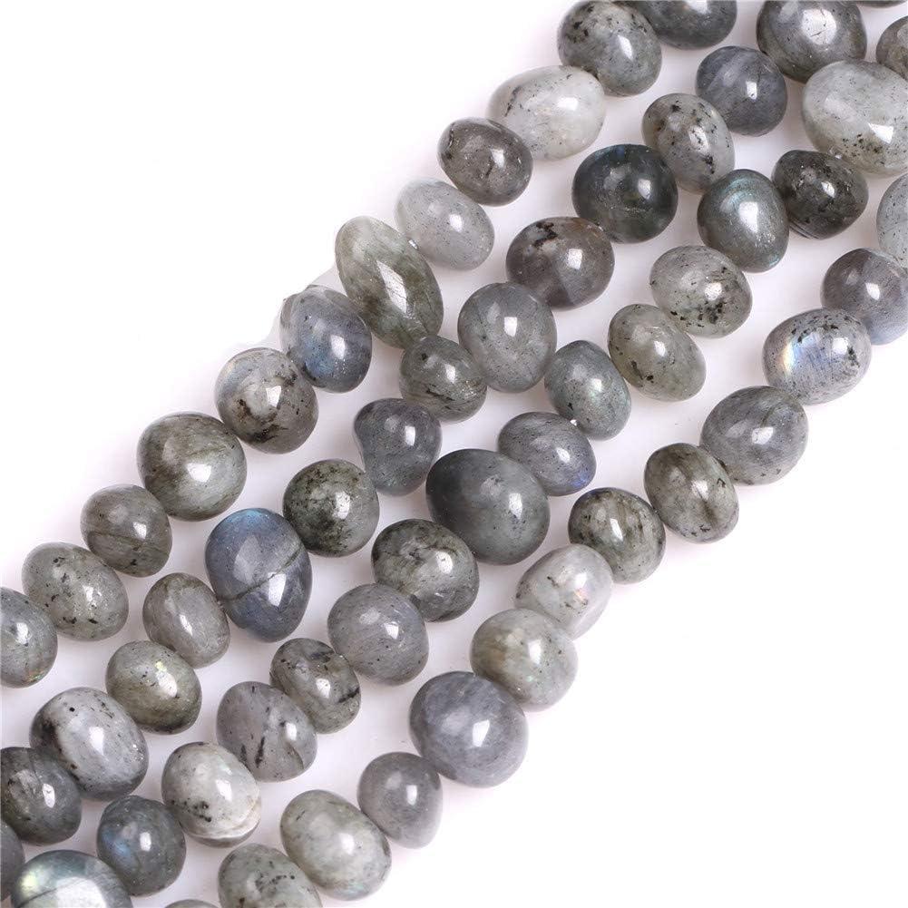 Sweet & Happy Girl 's Store Freeform de Patatas Forma Gemstone Beads Strand 15Pulgadas Perlas de bisutería