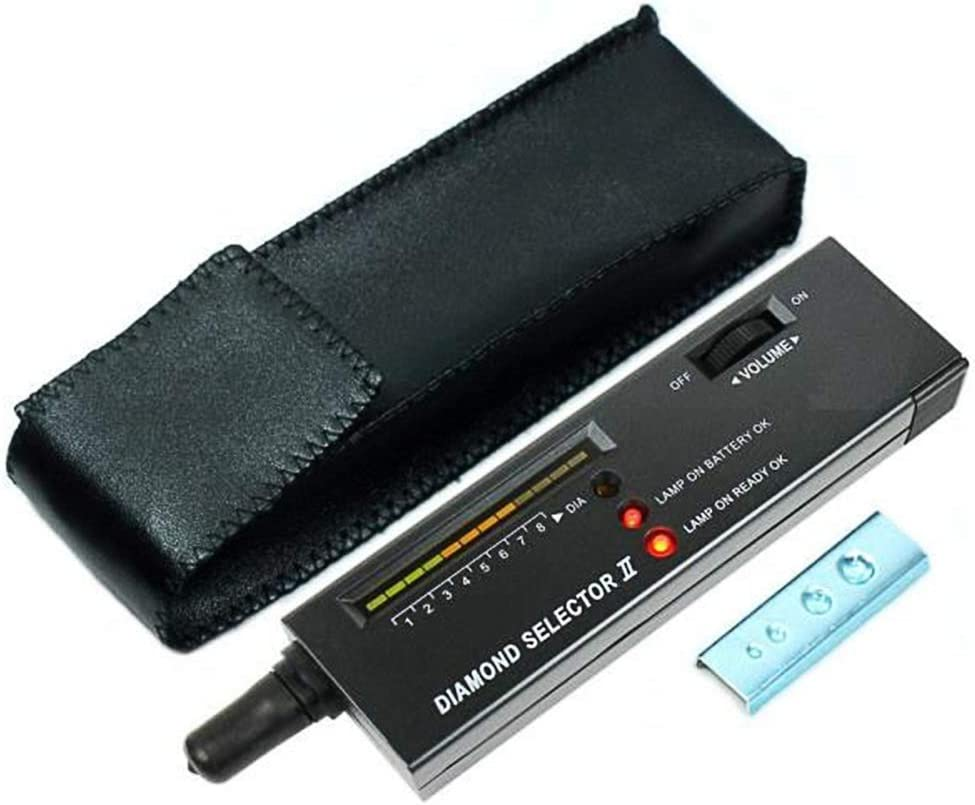 KLJKUJ Portable Diamond Gem Tester Selector 16x4x2.2CM Black