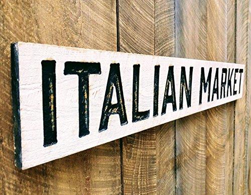 ITALIAN MARKET Sign Horizontal 55