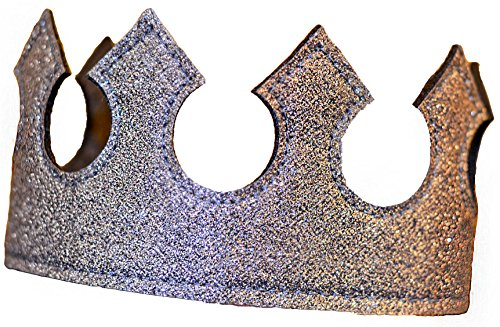 Last Second Halloween Costumes For Girls (Boy Crown Halloween Costume Gray Dress Up Play Time Crown Glitter Stretch Birthday Party in Metallic Charcoal)
