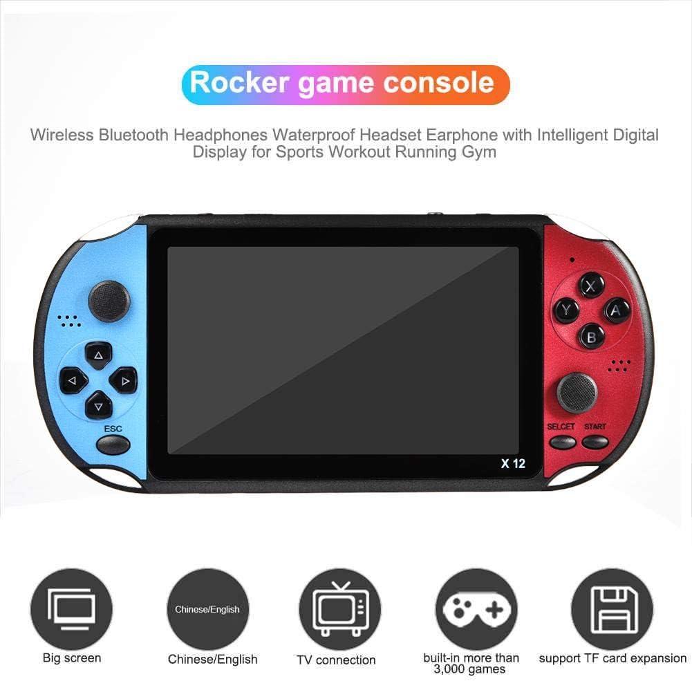 Finelyty Consola portátil Retro para X12pro, máquina de Consola de Juegos Double Rocker, Pantalla Grande de 5,1 Pulgadas, Memoria 8G de 128 bits con 3000 Juegos: Amazon.es: Hogar
