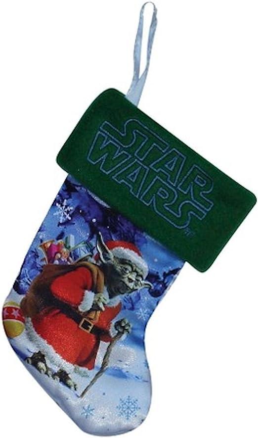"""Set of 4 Star Wars 7/"""" Mini Christmas Stockings Yoda Stormtrooper AT-AT Boba Fett"""