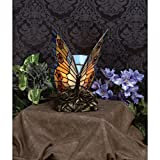 Quoizel Orange Butterfly Tiffany 1 Light Accent Lamp