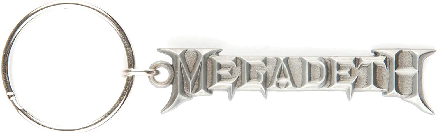 Megadeth Chrome Logo Metal Key Chain Chrome