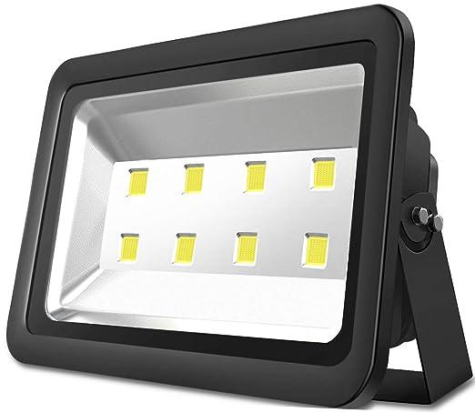 Atoechie Black 400W Outdoor LED Flood Light, Cool White Light 6000k, Super  Bright 40,000