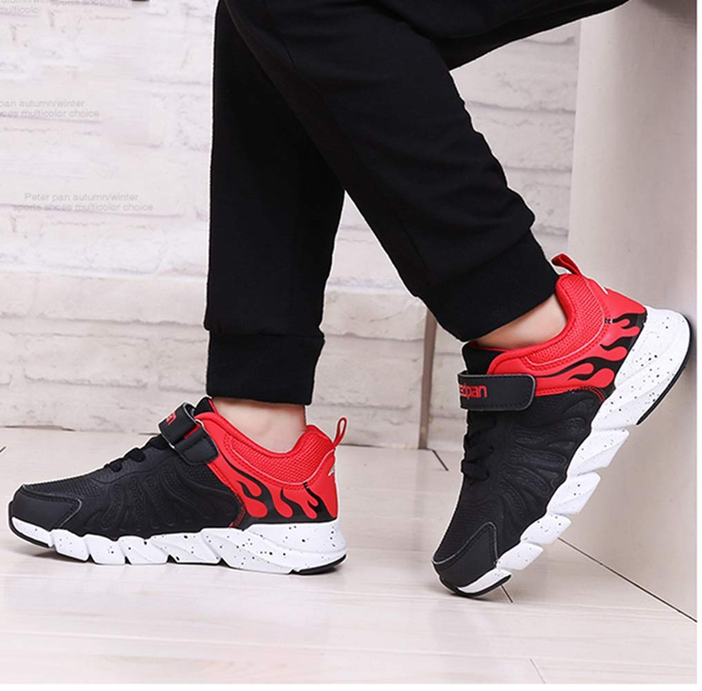 LGXH Lightweight Boys Girls Casual Running Trainers Non-Slip Comfortable Flame Kids Athletic Sneakers