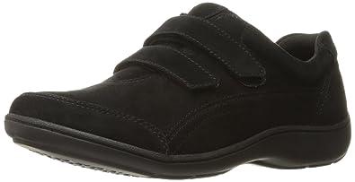 Aravon Women's Bromly Double Strap Fashion Sneaker,Black Suede,6 ...