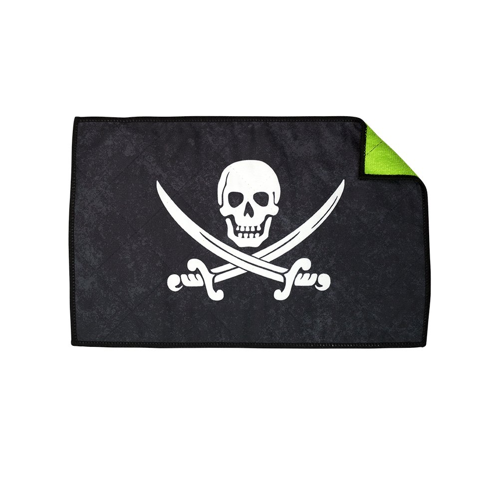 Exalt Paintball Microfiber Goggle Cloth - Player Size - Pirate Jolly Roger by Exalt