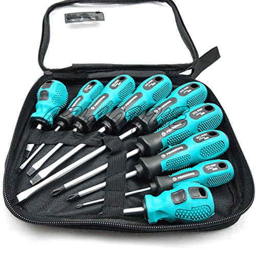 9 pcs slotted screwdriver set gator grip parafusadeira screwdrivers ...