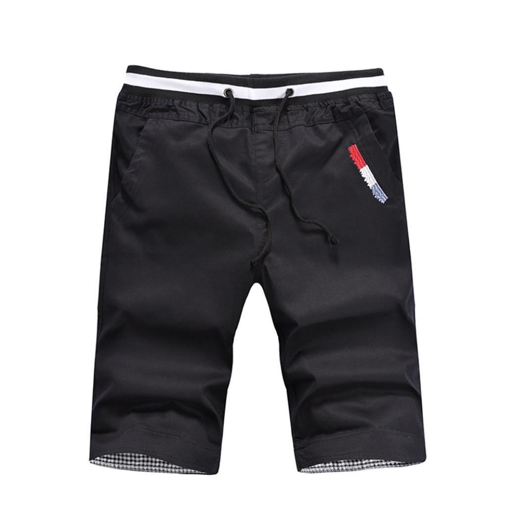 PASATO Clearance Mens Shorts Swim Trunks Quick Sport Beach Surfing Swimming Water Pants(Black, M)