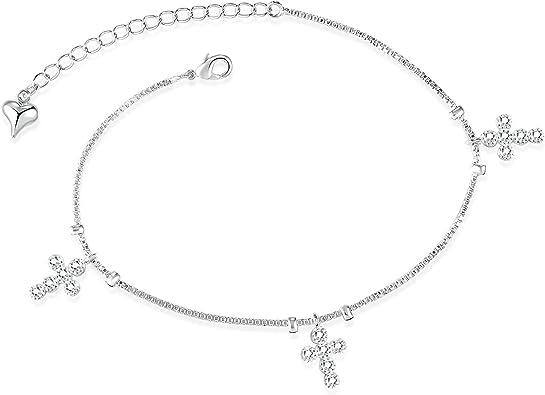 bracelet cheville croix