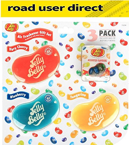 Jelly Belly Air Freshener Gift Pack - 3 Pack & Sweets - Great Gift Idea