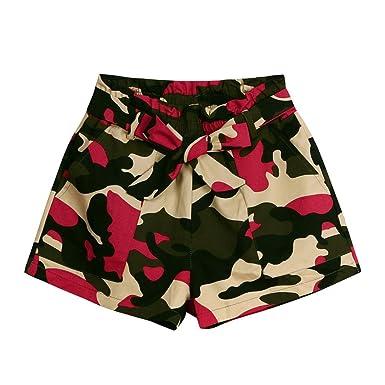 72a27e88caa929 Women Camo Shorts,Ladies Summer Hot Pants Fashion Beach Shorts Pants Pocket  Trousers(Multicolor