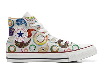 Converse All Star personalisierte Schuhe (Custom Produkt) Happy Paisley  size 32 EU