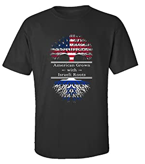 American Grown With Israeli Roots Great Gifts Israel - Adult Shirt 2xl Black