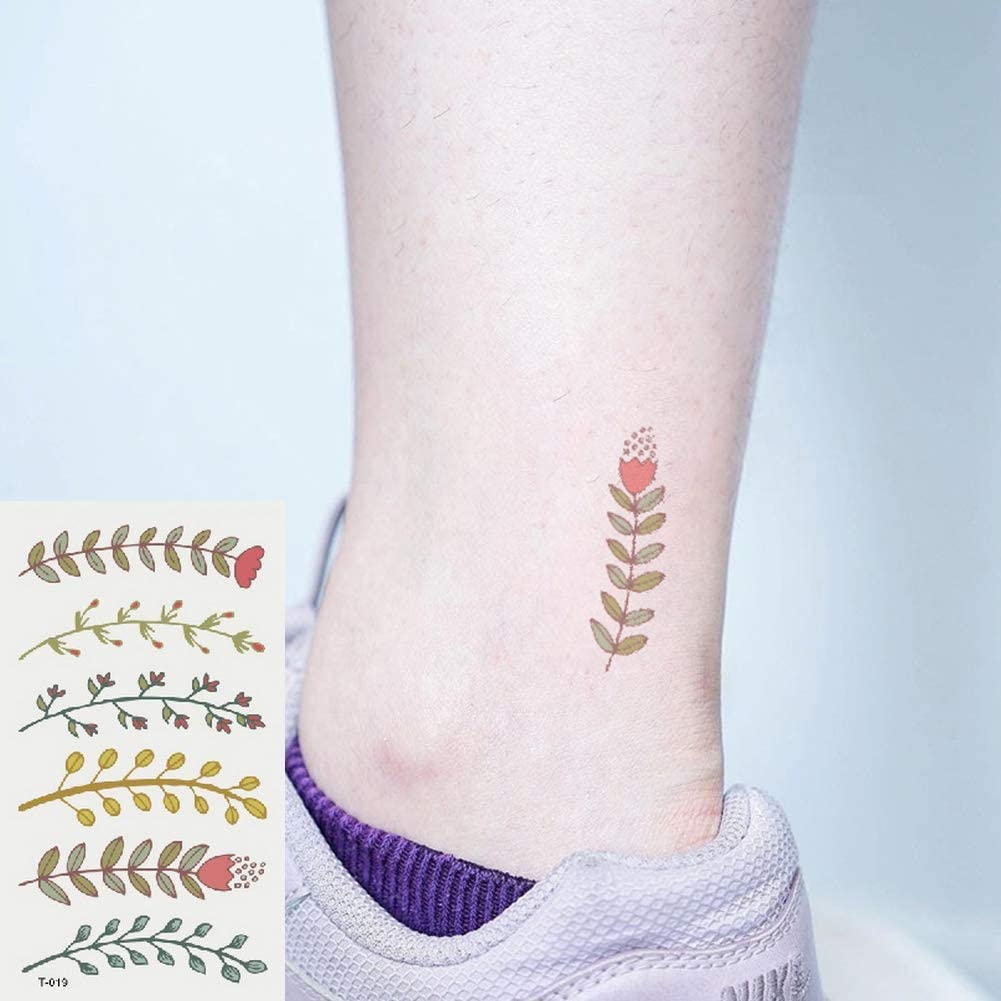 Oottati 2 Hojas Pequeño Lindo Tatuaje Temporal Tattoo Rama De ...