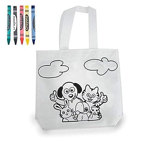 DISOK - Bolsa para Colorear - Bolsa Infantil para Pintar con Pinturas de Cera Ideal para