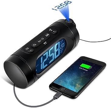 Despertador Proyector, Kozy Life Relojes de proyección con Alarma ...