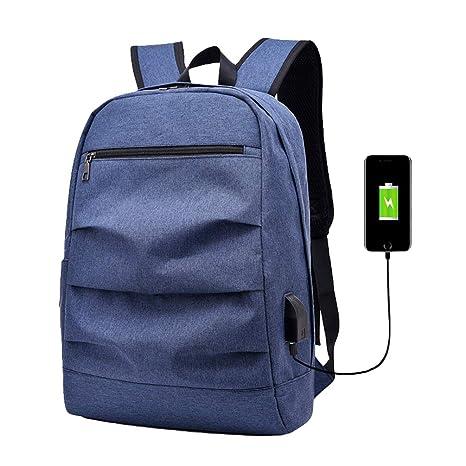 LINNUO Mochila para Portátil con USB Cargador Mochilas ...