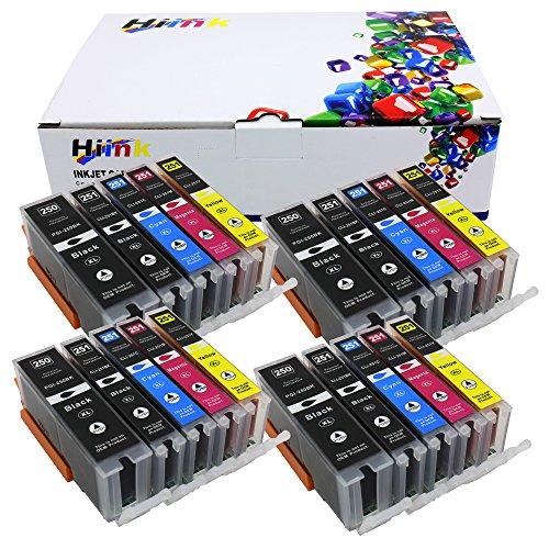 HIINK Compatible Ink Replacement For Canon PGI-250XL CLI-251XL PGI250 CLI251 Used In PIXMA IP7220 iX6820 MG5420 MG5422 MG5520 MG5522 MG6420 MX722 MX922(PGbk, Black, Cyan, Magenta, Yellow, 20-Pack)