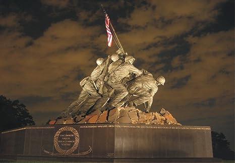 Amazon.com: Iwo Jima, Marine Corp Memorial, Washington DC, Statue, Magnet 2  x 3 Photo Fridge Magnet: Kitchen & Dining
