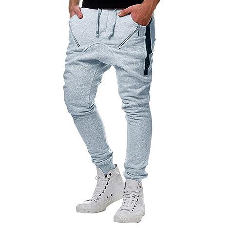 Pantaloni Tuta Uomo Topgrowth Casual Sport Hip Hop Autunno Patchwork  Cerniera Running Palestra Pantaloni da Jogger Tuta da Ginnastica   Amazon.it  Sport e ... 6d3a977d8f48