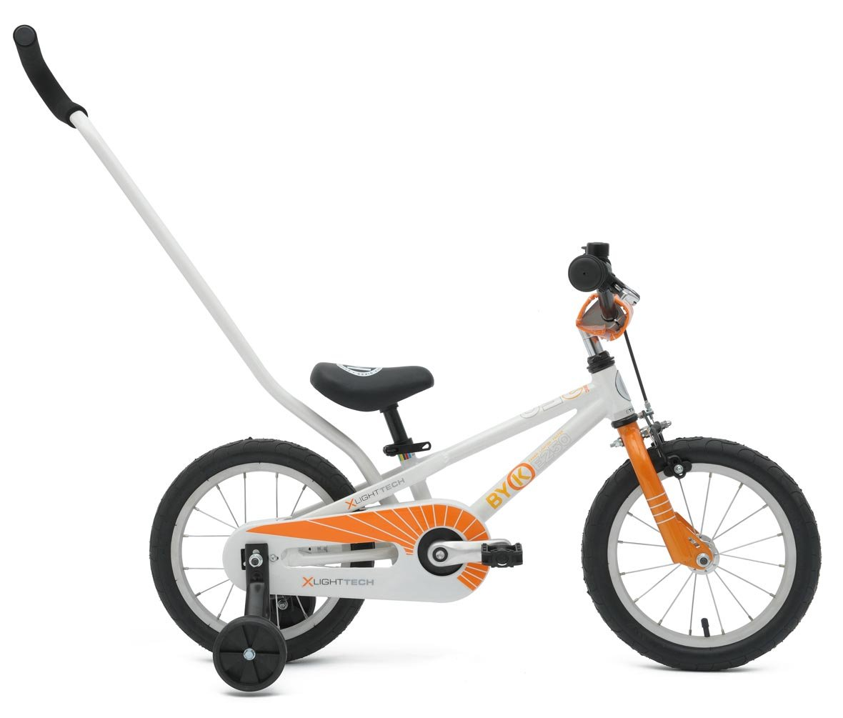 ByK E-250 Kid's Bike, 14 Inch Wheels, 6.5 Inch Frame, for Boys and Girls, Orange, Lilac