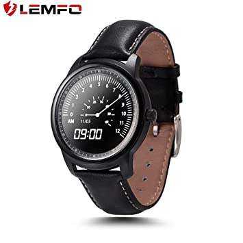 LEMFO LEM1 Podómetro Monitorización del sueño Deporte Bluetooth Reloj Inteligente Adsorción de Carga Sync Guía telefónica