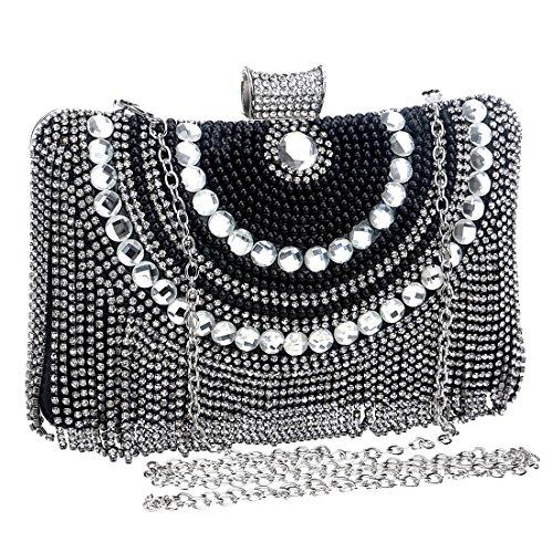 Red Bolso Del La Tarde Las color Magai De Embrague Black Vestido Diamante Mujeres Monedero FZnRwd7q
