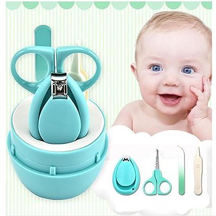 OYD 4 piezas Baby Bebé Tijeras Cortauñas Lima de Uñas Pinza de Nariz, pinzas y archivo de uñas para recién nacido, bebé, niño pequeño