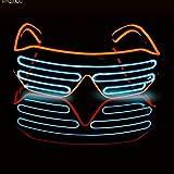 DJ Bright Brille EL Draht Mode Neon LED Licht Glow Rave Kostüm Party Blinds Gläser Fluoreszierende Tanz Performances Bar