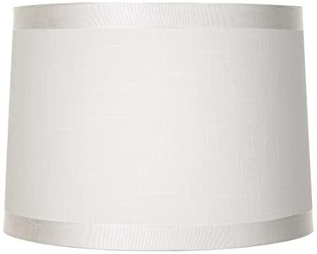 Universal Lighting And Decor Off White Fabric Drum Shade 13x14x10 (Spider)