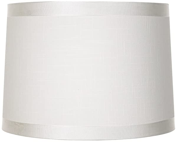 White Fabric Drum Shade 13x14x10 (Spider)