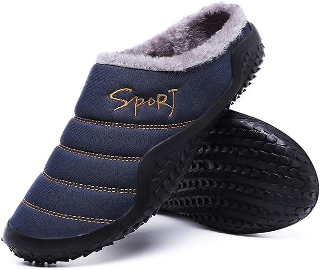 UK Women Men Indoor Solid Color Plush Slippers Winter Soft Warm Anti-Slip Shoes