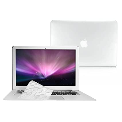6724f9627a5c TOP CASE - 2 in 1 - Rubberized Hard Case Cover And Transparent TPU Keyboard  Cover Compatible with Apple MacBook Air 11