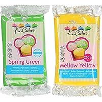 Funcakes - 2 X Paquetes de Fondant/Pasta de azucar de 250g (Verde primavera
