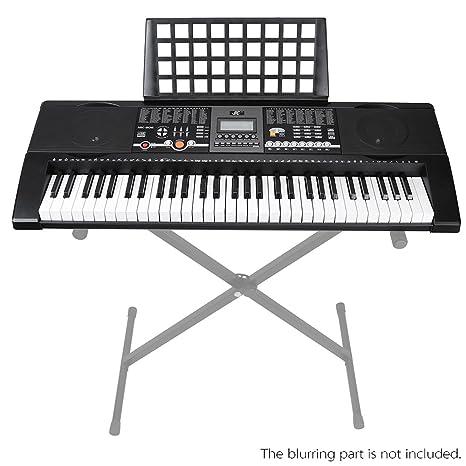 Andoer® 61 Teclas Piano Órgano Eléctrico Teclado Digital Multifuncional con Cable USB Soporte de Partitura