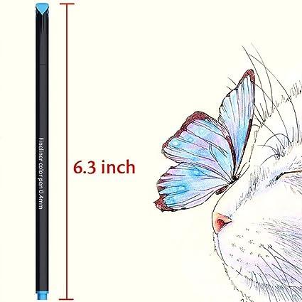 Fineliner Set, beupro Fineliner Pigment liner Juego Fineliner lápices 24 Color: Amazon.es: Oficina y papelería