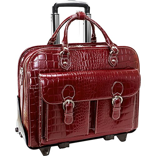 Mcklein USA 35306 Martino, 14' Leather Detachable Wheeled Briefcase