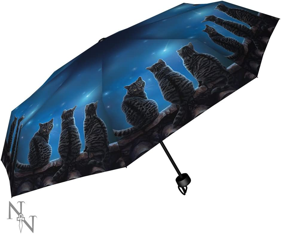 Double Layer Inverted Inverted Umbrella Is Light And Sturdy Owl Cute Reverse Umbrella And Windproof Umbrella Edge Night Reflection