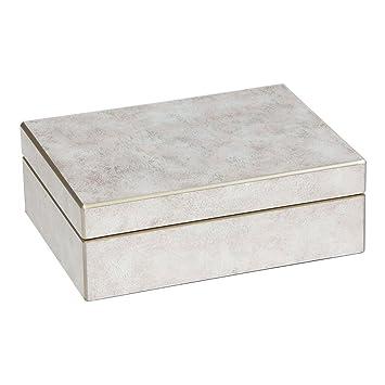 Amazon.com: Ethan Allen Zaria caja de espejo rosa, Madera ...