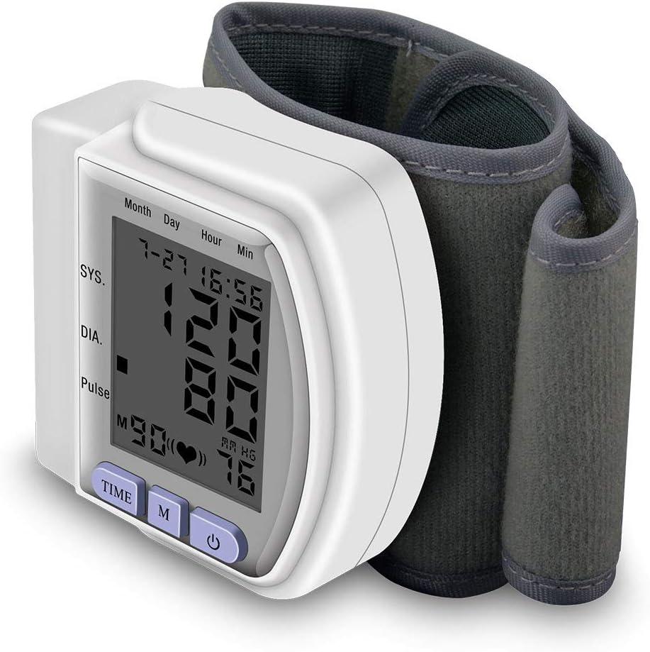 SHOWGG Presión Arterial muñequera, máquina de presión Arterial, la presión del hogar médico Digital automático de muñeca Monitor de Sangre BP tonómetro de muñeca Tensiómetro Esfigmomanómetro