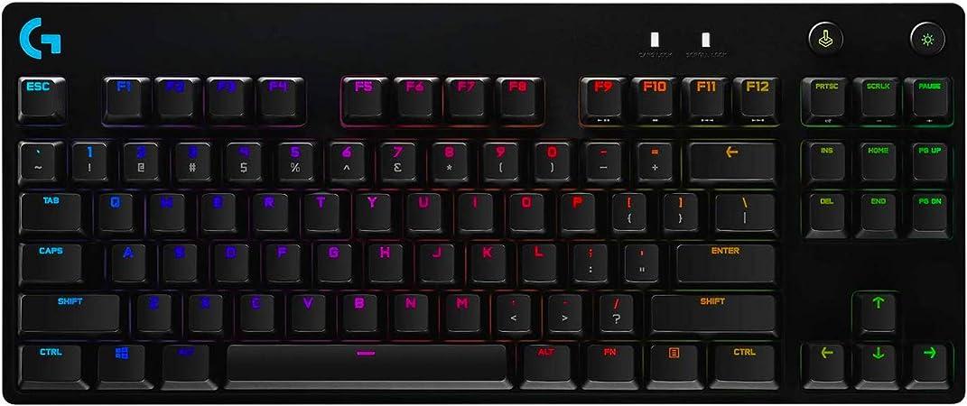 Logitech G Pro Teclado USB QWERTZ Alemán Negro Pro, Estándar, USB, Interruptor mecánico, QWERTZ, LED RGB, Negro