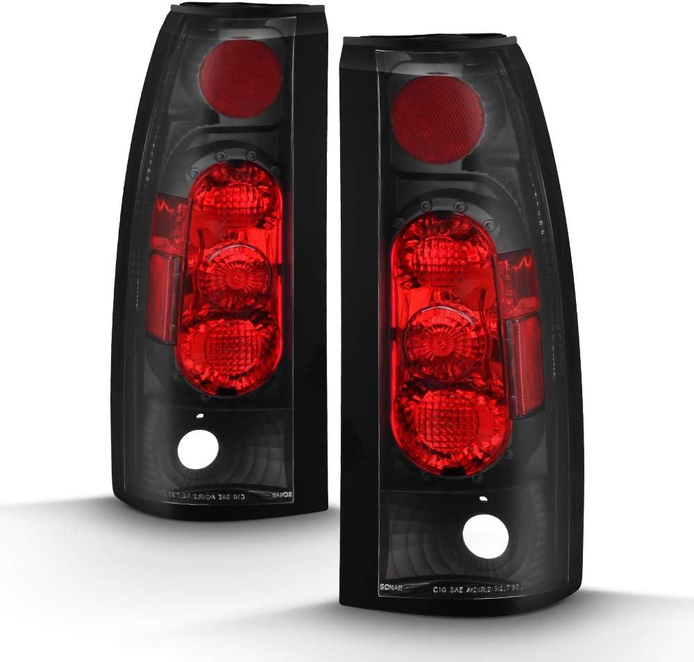ACANII For 1988-1998 Chevy//GMC C10 C//K 1500 2500 3500 Suburban Pickup Tail Lights Brake Lamps Driver /& Passenger Side