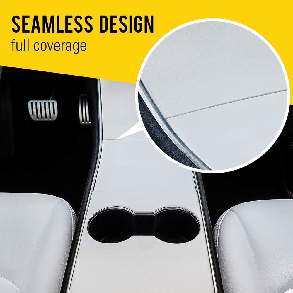 CoolKo Armrest Box Control Panel Center Console Trim Wrap Decoration Cover Compatible with Model 3 /& Y 1 Set