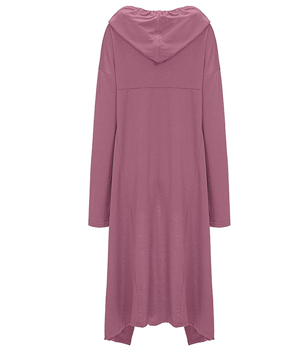 Felpa Lunga Donna Invernale Elegante Sweatshirt Pullover con ...